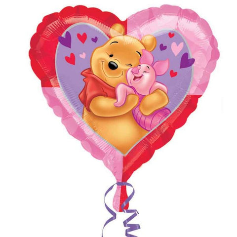 Foil Heart Disney Pooh & Piglet Love Balloon | 18""
