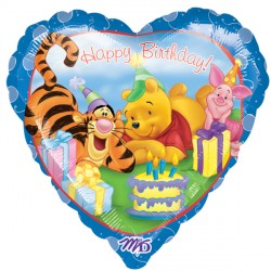 Foil Heart Disney Pooh & Friends Birthday Balloon | 18""