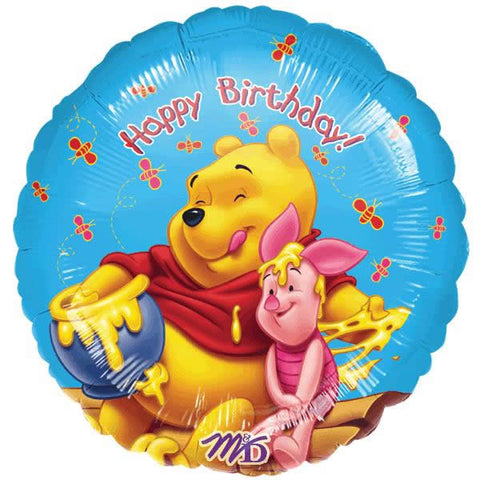 Foil Round Disney Pooh Honey Birthday Balloon | 18""