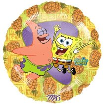 Foil Round Nickelodeon Spongebob & Friend Balloon | 18""