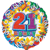 Foil Round Birthday Explosion Balloons | 18""