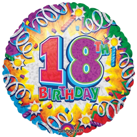 Multiple Designs - Foil Round Birthday Explosion Balloon | 18""