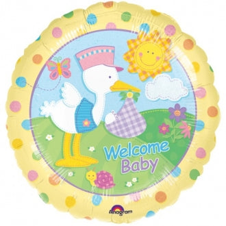 Foil Round Bundle Of Joy Welcome Baby Balloon |18""