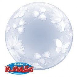 Bubble Deco Butterflies & flowers Balloon | 20""