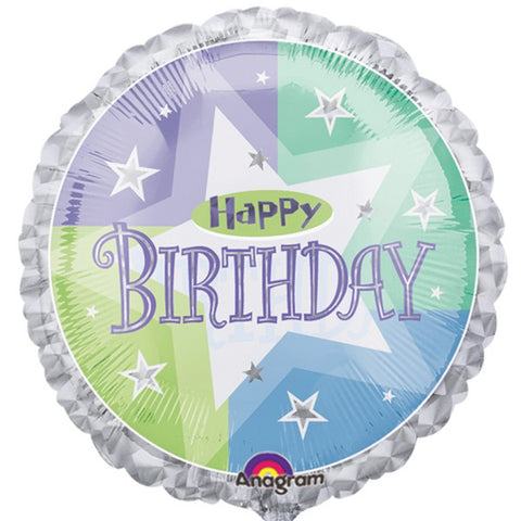 Foil Round Shimmer Birthday Balloon | 18""