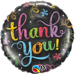 Foil Round Thank You Chalkboard Balloon | 18""