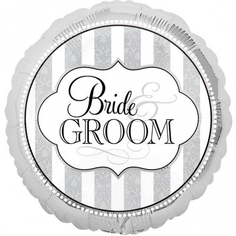 Foil Round The Bride And Groom Balloon | 18""