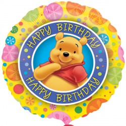 Foil Round Disney Pooh Birthday Spots Balloon | 18""