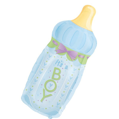 Foil Shape Baby Bottle Blue Balloons P30