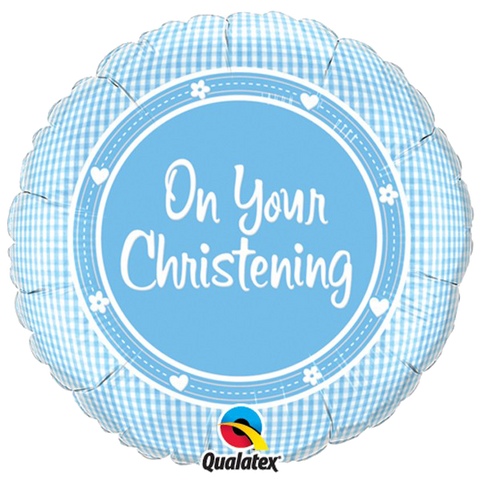 Foil Round On Your Christening Balloons |18""