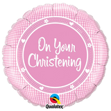 Foil Round On Your Christening Balloons | 18""