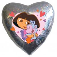 Foil Heart Dora Balloon | 18""
