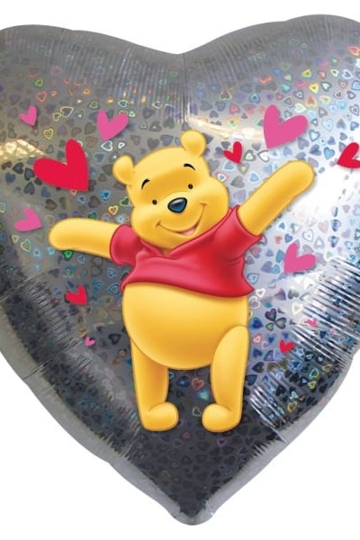 Foil Hearts Disney Pooh Bear Love Balloon | 18""