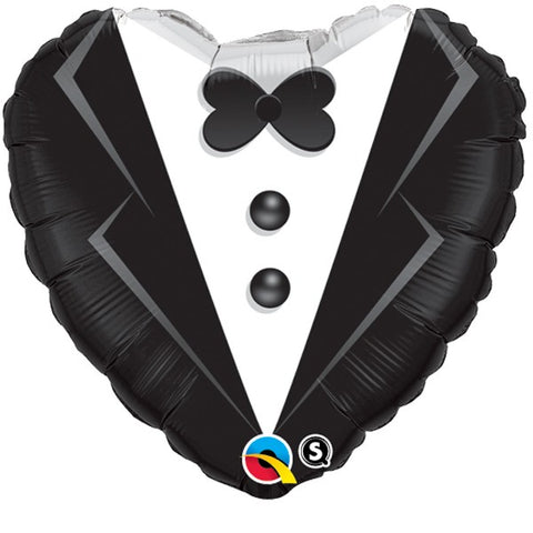 Tuxedo Heart Shaped Foil Balloon | 18""