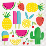 Sweet & Succulent Tropical Napkins | Pack of 16