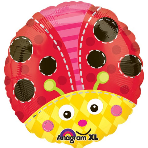 Foil Round Cute Lady Bug |18""
