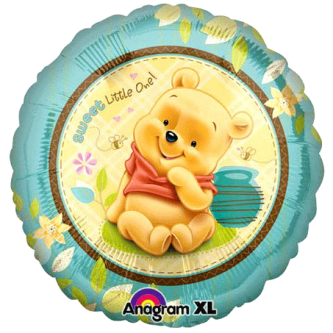 Foil Round Winnie The Pooh Sweet Little One Balloon |18""