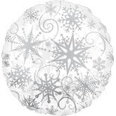 Click and Collect - Clear Snowflake Foil Balloon S40