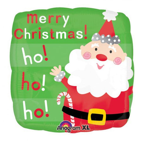 Foil Shape Merry Christmas Santa Balloon | 18""