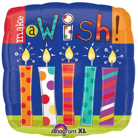 Foil Shape Make A Wish Candles Balloon