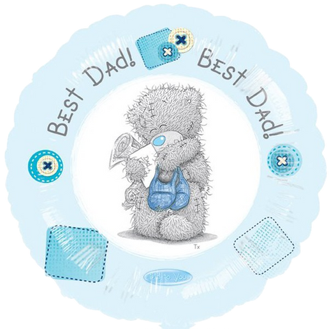 Foil Round Me To You Best Dad Balloon |18""