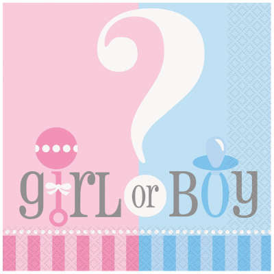 Gender Reveal Napkins | Pack of 20