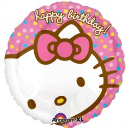 Foil Round Birthday Hello Kitty Balloon | 18""