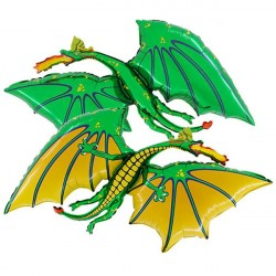 Foil Shape Green Dragon Balloon