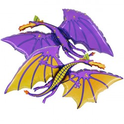 Foil Shape Purple Dragon Balloon