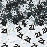 Black & Silver 'Numbers' Birthday Confetti