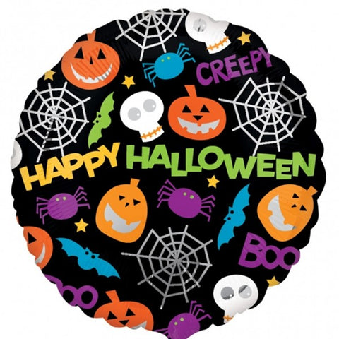 Foil Round Playful Halloween Balloon | 18""