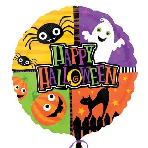 Foil Round Happy Halloween Critters Balloon | 18""