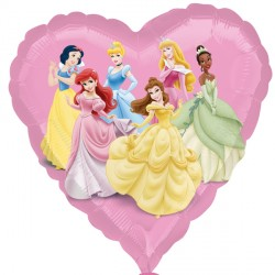 Foil Heart Disney Princesses Balloon | 18""