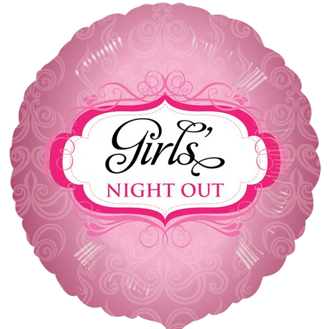 Foil Round Girl's Night Out Balloon | 18""