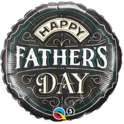 Foil Round Father's Day Chalkboard Balloon |18""