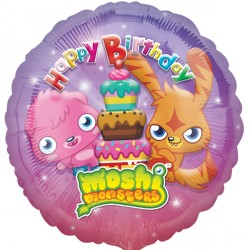Foil Round Moshi Monsters Birthday Balloon | 18""