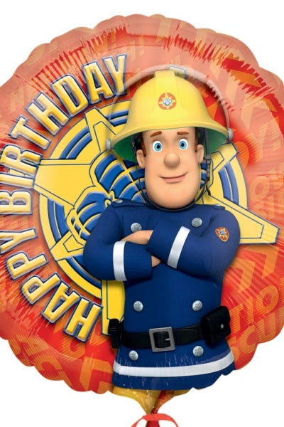 Foil Round Fireman Same Birthday Balloon | 18""