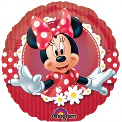 Foil Round Disney Minnie Mouse Balloon | 18""
