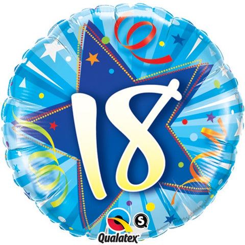 18th Birthday Blue Foil Balloon | S40