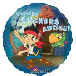 Foil Round Disney Jake Anchors Aweigh Balloon | 18""