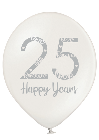 Latex Preprinted 25th Anniversary Balloons | 12""