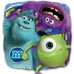Foil Square Disney Monsters Inc Balloon | 18""