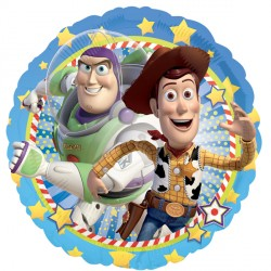 Foil Round Disney Toy Story Woody & Buzz Balloon | 18""