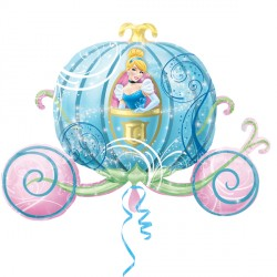 Foil Shape Disney Cinderella Carriage Balloon P38 | 33""