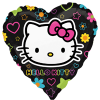 Foil Heart Hello Kitty Neon Balloon | 18""