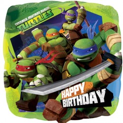 Foil Square Nickelodeon Turtles Balloon | 18""