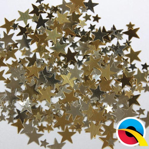 Gold & Silver Party Stars Confetti