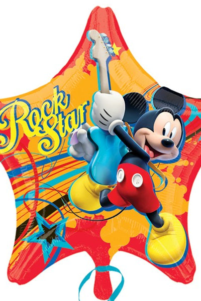 Foil Star Disney Mickey Mouse Rock Star Balloon | 18""