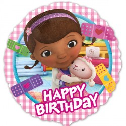 Foil Round Disney Doc McStuffins Birthday Balloon | 18""