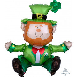 Foil Shape Leprechaun St Patrick's Day Air Filled Balloon A70 | 22""